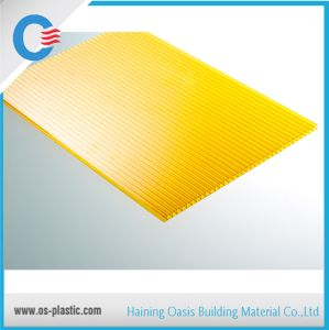 Yellow 6mm Two Wall Polycarbonate Hollow Sheet as Swimming Pool Roofing Covering pictures & photos