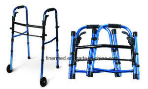 Double Folding Compact Walker with Wheels pictures & photos