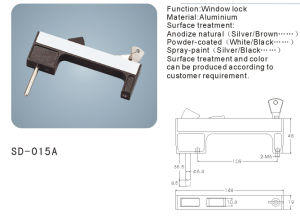 Aluminium Window Handle/ Lock (SD-015A) pictures & photos