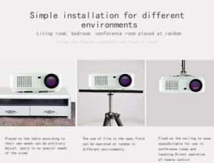 Full HD Projector Projector LED Home Theater Video Projector pictures & photos