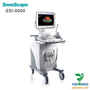 Medical Sonoscape Ssi-6000 Trolley 4D Color Doppler Sonoscape Ultrasound pictures & photos