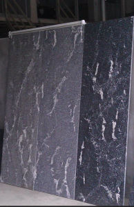 Brazil Black Nevada Natural Stone Black White Slab Granite Stone pictures & photos
