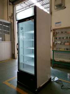 Digital Control Glass Door Upright Beverage Cooler pictures & photos
