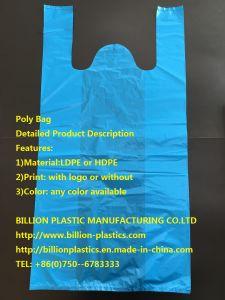 Handle Plastic Shopping Bag T-Shirt Bag Poly Bag Vest Bag pictures & photos