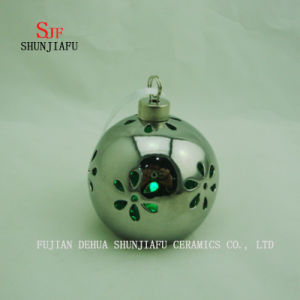 Spherical Electroplated Ceramic Candle Stand, Porcelain Candle Candlestick/D pictures & photos