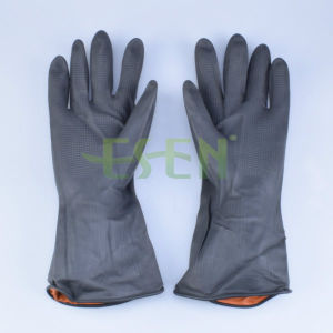 Black Latex Hosuehold Gloves, Rubber Household Gloves, Industry Gloves pictures & photos