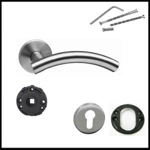Stainless Steel Interior Room Door Handles for Bathroom Door pictures & photos