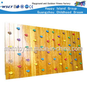 Wooden Wall Mounted Kids Climbing Playground Equipment (HF-19205) pictures & photos
