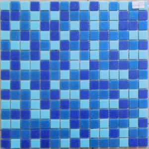 Cheap Price Blend Blue Colors Glass Mosaics pictures & photos