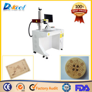 Raycus Desktop CNC Fiber Laser Wood Marking Machine pictures & photos