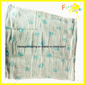 Super Soft Cotton Muslin Swaddle in Size 120X120cm pictures & photos