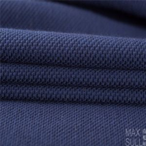 Good Elasticity and Thick Wool and Nylon Fabrics in Navy Blue pictures & photos