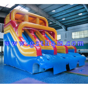 Outdoor Giant Inflatable Slide with Pool/Inflatable Slides for Commercial Use pictures & photos