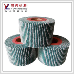 8 Inch Interleaf Surface Deburring/Cleaning Flap Wheel with Sand Paper