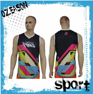 Latest Design Printed Men′s Mesh Gym Tank Top (SL005) pictures & photos