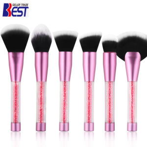 6PCS Set Pink Hand with Diamond Makeup Brush pictures & photos