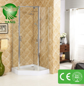 Cheap Price Tempered Glass Square Design Bathroom Shower Enclosure, Shower Room, Shower Cabin with Framed pictures & photos