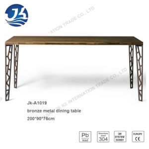 Natural Walnut Long Office Meeting Table with Artistic Metal Legs pictures & photos