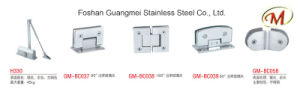 Stainless Steel Curve Clip Glass Hinge pictures & photos