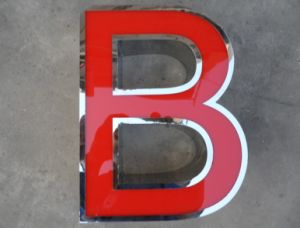 Facelit Acrylic Fabricated Metal Steel Illuminated Channel Letters and LED Sign pictures & photos