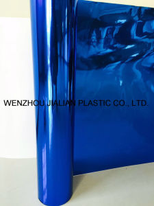Rigid Metalized PVC Film/Sheet of Both Sides Blue Color for Garland Decorations pictures & photos
