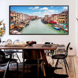 HD Riverside City Downtown Photo Canvas Print pictures & photos