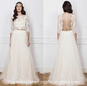 A-Line Bridal Gowns Bohemia Beach Wedding Dresses Y2039 pictures & photos