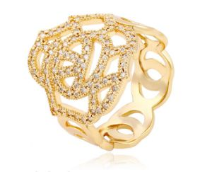14004 Fashion Luxury CZ Jewelry Finger King Ring for Women pictures & photos