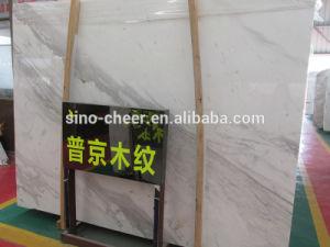 Popular Big Slabs Putin Wood-Grain White Marble Tile pictures & photos