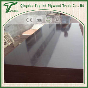 Waterproof Glue Brown Color Poplar Film Faced Plywood for Construction pictures & photos