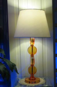 Elengance Crystal Base Fabric Shade Bedside Table Lamp (TL1212) pictures & photos