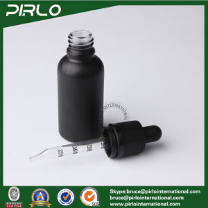 30ml 1oz White Cover Glass Dropper Bottle Frosted Black Surface Essential Oil Dropper Bottle pictures & photos