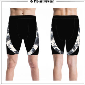 OEM Service Wholesale Men Blank Sweat Compression Shorts pictures & photos