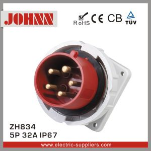 IP44 5p 32A Panel Mounted Plug for Industrial pictures & photos