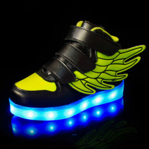 Wings USB Charge LED Light up Sneakers for Kids pictures & photos