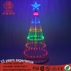 LED Multicolor 120V 12V Spiral Christmas Tree Light for Outdoor Decoration pictures & photos