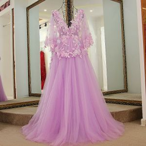3D Flowers Bridal Ball Gowns Cap Sleeves Party Prom Evening Dresses Z3007 pictures & photos