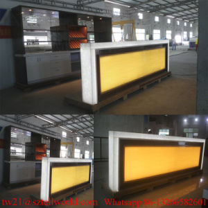 U Shape LED Lighting Nightclub Furniture Modern Wine Bar Counter Design Drinks Bar pictures & photos
