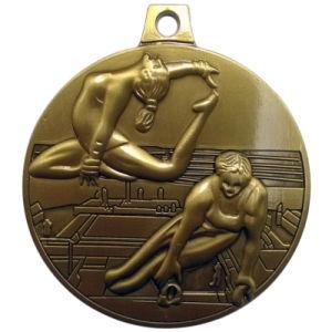 Customized 3D Logo Gold Gymnastics Theme Award Medal pictures & photos