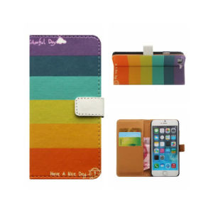 Printed Phone Wallet Leather Flip Case for iPhone 7 pictures & photos