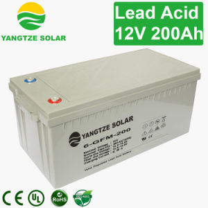 12V 200ah Lead Acid AGM Solar Battery pictures & photos