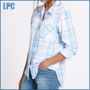 Pure Cotton Printed Long Sleeve Woven Shirt pictures & photos