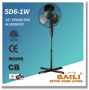 """16"""" Oscillating Cooling Stand Fan with Remote Control, 7.5 Hours Timer pictures & photos"""