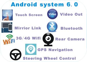 Android System 6.0 Car DVD for Universal Tiguan 10.2 Inch with Car GPS Navigation pictures & photos