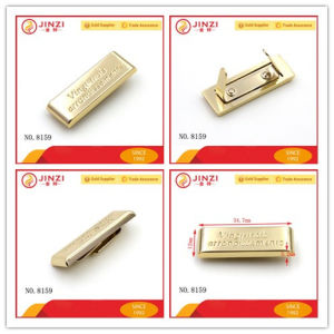 Rectangle Metal Logo Plate Customed Name Plate for Handbags pictures & photos