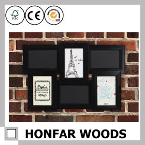Black Wood Standing Picture Frame for Home Decoration pictures & photos