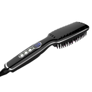 Ce RoHS LED Hair Straightening Brush pictures & photos