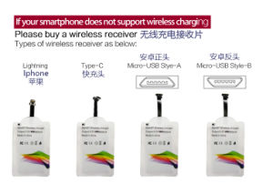 2017 Newest Stand Wireless Fast Charger with Two Coils pictures & photos