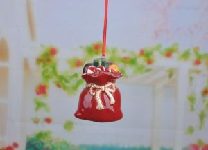 New Handmade Christmas Ornament Clay Wind Chime Ceramic Bell pictures & photos