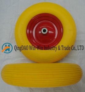 Colour PU Wheel with Steel /Plastic Rim (16*4.00-8) pictures & photos